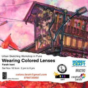 Wearing Colored Lenses – Urban Sketching Workshop